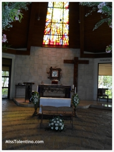 Featuring the solemn and picture perfect altar at Chapel on the Hill, Nasugbu Batangas