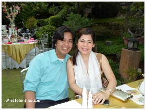Cute husband and wife team, RJ & Jihan. Taken at Le Jardin Rosella, Cherry Blossoms Garden, Tagaytay
