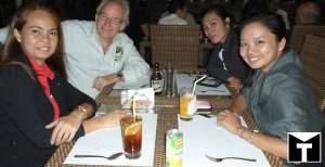 Sharing stories over dinner with colleagues after the three-day event.