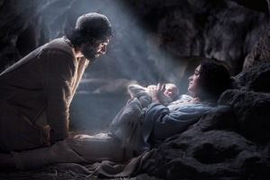 And she gave birth to her firstborn son; and she wrapped Him in cloths, and laid Him in a  manger, because there was no room for them in the inn.  - Luke 2