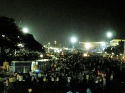 At just 4AM, barefoot men, women and children march to Luneta Grandstand to catch a glimpse of the Black Nazarene.