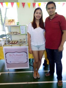 Upcoming entrepreneurs were happy participants of Forbes Bonanza 2014. Featured here is cupcake/pastry couple Chef Jobo and Toni of Oh My Sweets!