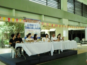 Day one of the bonanza. Featured here are the organizers and community leaders of Brgy. Forbes, Makati City.