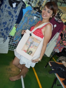 With a knack for design, Soleil Vintage is managed by Filipina artist Sharaos. The artist shows off her latest print design.
