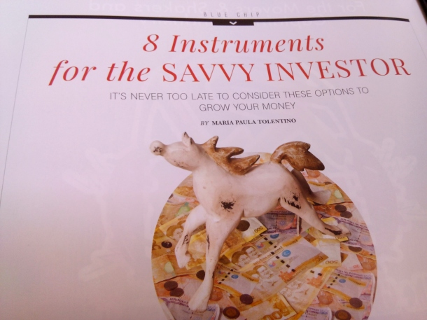 MissTolentino discusses the 8 Instruments for the Savvy Investor  in the maiden issue of Power Play Magazine. Grab your copy now!  Available at all leading  National Bookstore branches nationwide.