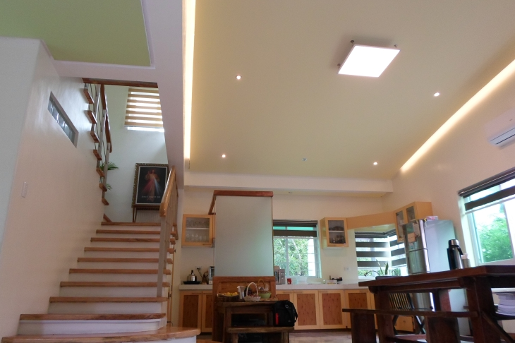 The minimalist approach yet well powered home of Rod functions as showcase for clients who are interested in powering their homes and businesses with solar energy.