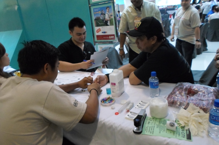 WBDD Blood Donor's Registration Booth