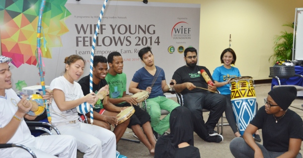 A Capoiera session with the WIEF Young Fellows