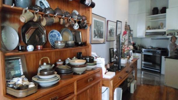 Potteries and Ceramics inside BenCab's Home.