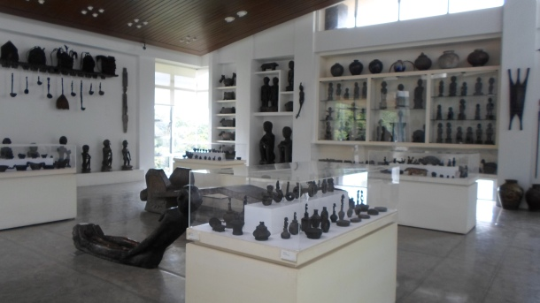 Sculpture Collections inside BenCab's Museum.