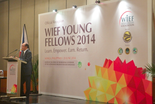 """If we want a better world, we need to inspire the future leaders of the world. There is absolutely no denial on this simple notion; and this is why the WIEF Young Leaders Network was created 8 years ago. It serves as a global platform for young people of different backgrounds to connect and collaborate, be it in business or social programme,"" expressed The Hon. Tun Musa Hitam, Chairman of the WIEF Foundation."