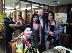 During an art exhibit hosted by Dennis Smith with former first lady, Mrs. Imelda Marcos