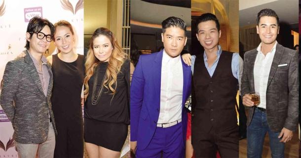 SOME of The Palace business partners: GP Reyes and his wife Andi Manzano-Reyes, PamSolilapsi; Tim Yap, Erik Cua; Fabio Ide Image © Philippine Daily Inquirer