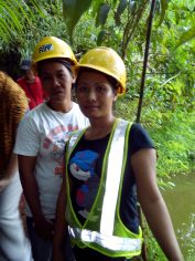 One of RTNMC's female miners giving us a our on site.