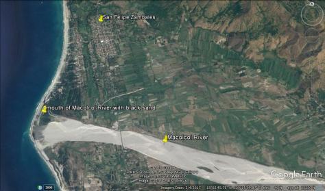 black sand mining_zambales macolcol river