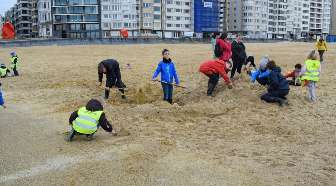Experience the power of the north sea at oostende beach