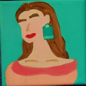 Emerald Tassel 10x10 Oil Painting