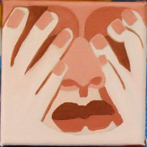 Peek-a-boo 10x10 Oil Painting