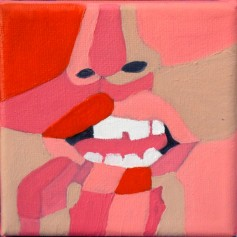 Oral fixation 10x10 oil painting SRP : $200