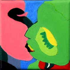 Vibrant lovers 10x10 oil painting SRP : $200